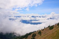 Mountains and fog Royalty Free Stock Photos