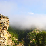 Mountains with fog Royalty Free Stock Photo