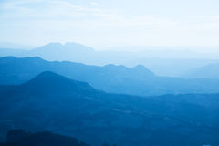 Mountains in a fog Royalty Free Stock Images