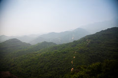 Mountains in the fog; Royalty Free Stock Photography