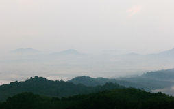 Mountains and fog. royalty free stock photography