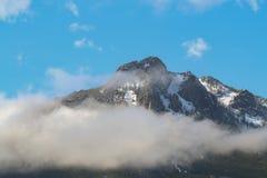 Mountains with Fog stock photo