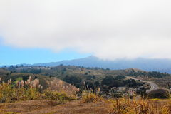 Mountains and Fog near Pacifica, CA Royalty Free Stock Images