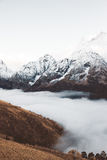 Mountains in fog Stock Photography
