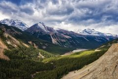 Canadian Rockies -Icefields Parkway Royalty Free Stock Photo