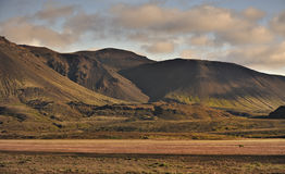 Mountains formed from volcanic activity Iceland Royalty Free Stock Image