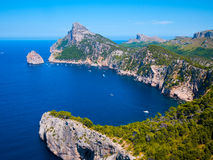 Mountains in formentor, spain Royalty Free Stock Photo