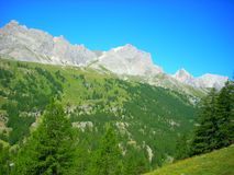 Mountains French Alps Summertime Stock Photos