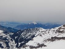 Mountains in the French Alps Royalty Free Stock Photo