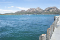 Mountains at Freycinet National Park Tasmania Royalty Free Stock Photography