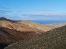 The mountains of Fuerteventura in morning light Royalty Free Stock Photos