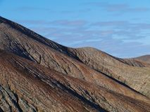 The mountains of Fuerteventura in morning light Royalty Free Stock Images