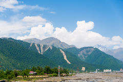 Mountains in Gabala royalty free stock photos