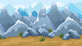 Mountains Game Background stock illustration