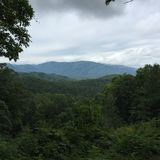 Mountains of Gatlinburg. Overlooking the mountains Stock Image