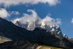 Mountains. In Georgia, near to Mestia. Swanetii Region Royalty Free Stock Photo