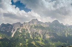 Mountains Gimpfel and Rote Flüh in Tirol Austria Royalty Free Stock Photos