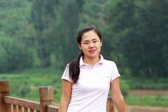 Mountains girl royalty free stock image