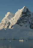 Mountains and glacial ice fall Stock Images