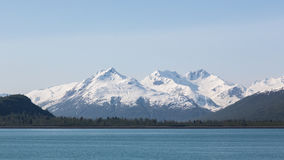 Mountains in Glacier Bay Stock Photography