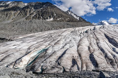 Mountains glacier ice snow clouds summer Royalty Free Stock Photos