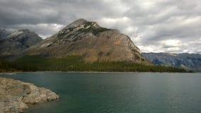 Mountains and glacier lake lake minnie wanka stock photography