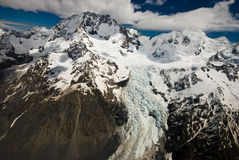 Mountains and Glacier New Zealand Stock Photos