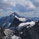 Mountains and glacier seen from mount Titlis Stock Image