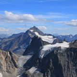 Mountains and glacier seen from mount Titlis, Switzerland. Royalty Free Stock Photography