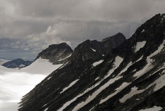 Mountains and glaciers  in Jotunheimen Stock Photography