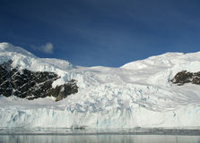 Mountains & glaciers reflected Royalty Free Stock Photography