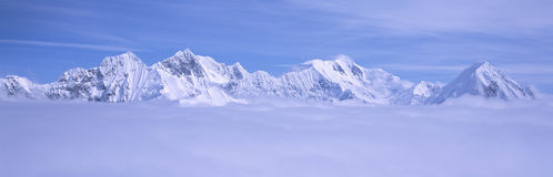 Mountains and glaciers in Wrangell-St. Elias National Part, Alaska Royalty Free Stock Images