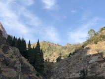 Mountains glistening under the sunlight