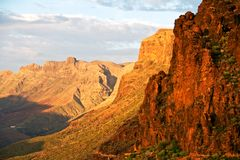 Mountains of Gran Canaria Royalty Free Stock Photos