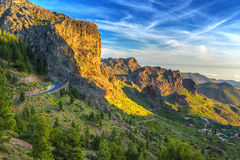 Mountains of Gran Canaria island Royalty Free Stock Image