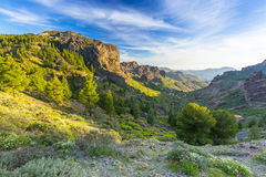 Mountains of Gran Canaria island Stock Images