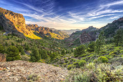 Mountains of Gran Canaria island Stock Photo