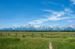 Grand Tetons Mountains Royalty Free Stock Photography