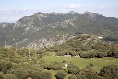 Mountains in Grazalema National Park stock photography