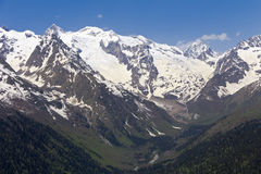 Mountains of the Great Caucasian ridge.Dombay. Royalty Free Stock Photo