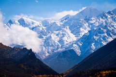 The mountains of the Greater Caucasus from Georgia. Autumn Royalty Free Stock Images