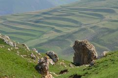 Mountains from the Greater Caucasus range in Shahdag National Park, Azerbaijan