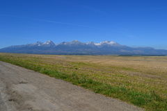 Mountains green grass red white nice beautiful elektricka Royalty Free Stock Photography