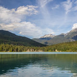 Mountains and Green lake near Whistler Canada Royalty Free Stock Images
