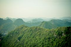 Mountains of Halong bay and Catba Royalty Free Stock Image
