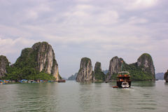 Mountains at Halong Bay, Vietnam Stock Image