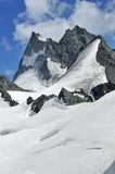 Mountains on the haute route Royalty Free Stock Photo