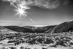 Mountains HDR. Snowy mountains and magnificent views of untouched nature Stock Images