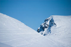 Mountains Hibiny at winter. Mountains in snow and ice at winter, ski season Royalty Free Stock Images