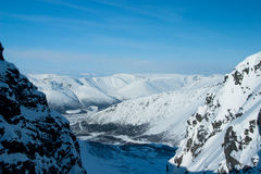 Mountains Hibiny at winter Stock Photography